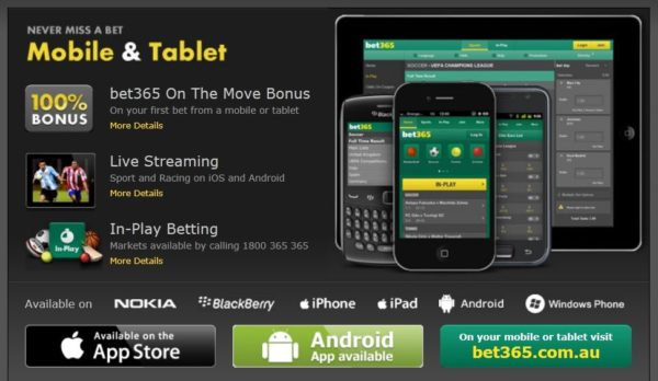 bet365 mobile products